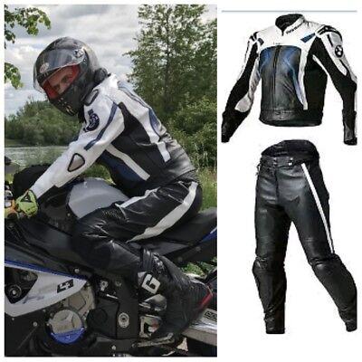 SYDNEY MOTORCYCLE LEATHER SUIT MOTORBIKE RACING MEN BIKER SUIT JACKET TROUSER