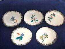 "Japanese Traditional ceramics ""Kutani"" small plates  flower designs 5 type set"