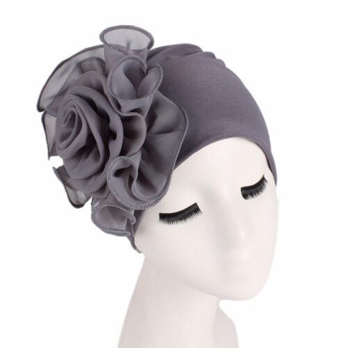 Damen Geblümt Yoga Turban Beanie Mütze Kopftuch Kopfbedeckung Chemo Haarband Hüt