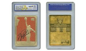 MICHAEL-JORDAN-039-86-Fleer-ROOKIE-Feel-The-Game-NBA-23K-Signature-GOLD-Card-GEM-10
