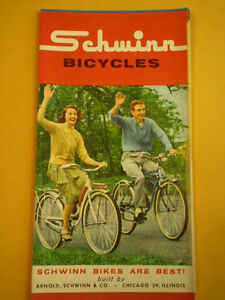 Details about Vintage Collectable Schwinn 1962 Color Full Line Bicycle  Literature Catalog