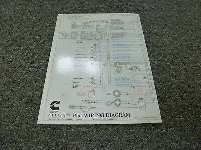 1996-1998 Cummins N14 Celect Plus Engine Electrical Wiring Diagram Manual  1997 | eBayeBay