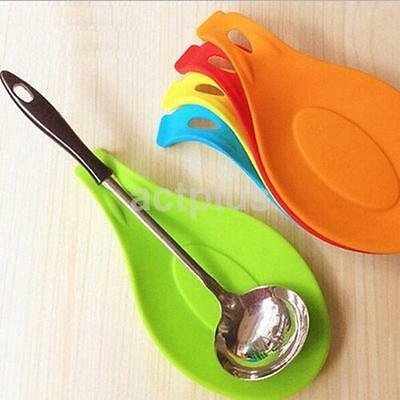 Fork Spoon Holder Spatula Mat Tool Spoon Rest Heat Utensil Home Placemat CA
