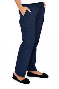 Uneek-Ladies-Cargo-Trousers-Womens-Work-Wear-Pants-Black-or-Navy-8-to-20-UC905