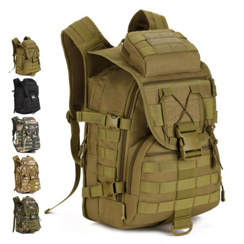 40L Tactical Molle Army Military Rucksack Backpack Travel Camping Luggage Bag