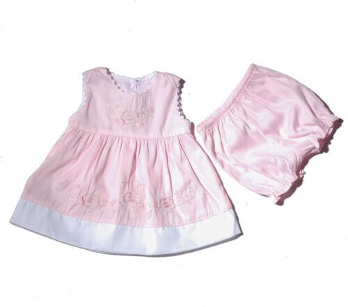verde NEW Baby Ragazze Floreale Abito Da Party Con Bloomers in rosa giallo 0-12 mesi