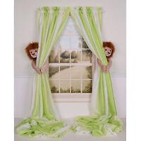 Curtain Critter Baby Kid Nursery Jungle Safari Zoo Lion Curtain Tieback Toy Set