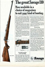 1966 Print Ad of Savage 110-MC & 110-C Bolt Action Rifle