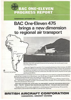 BAC ONE-ELEVEN MANUFACTURERS PROGRESS REPORT BAC1-11