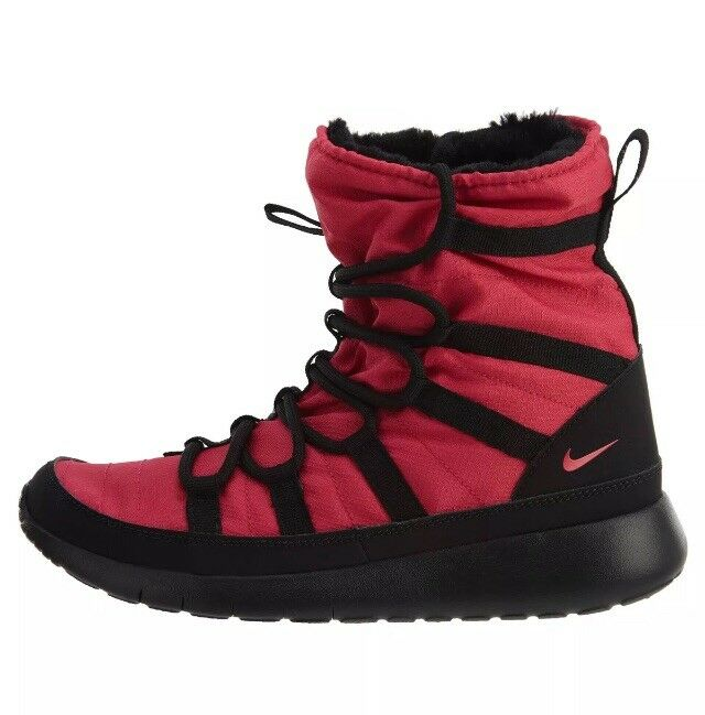 Nike Roshe One Hi Rush Pink Black Run Sneakerboots Boots Sz 7Y   Women's 8.5 NEW