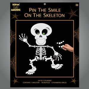 Pin-The-Smile-On-The-Skeleton-Halloween-Party-Game-Decoration-Children-12-Player