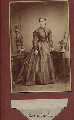 London. 'Agnes Barber' Lady Victorian Herbert Watkins  CDV photograph qe.36