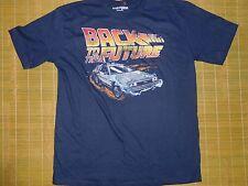 Men's Vintage Back to the Future Tshirt sz XL Blue Retro 80's Fashion Delorean