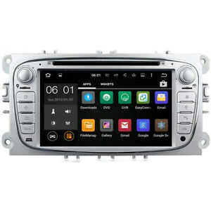 ford focus mk2 silver android 5 1 head unit dab radio gps. Black Bedroom Furniture Sets. Home Design Ideas