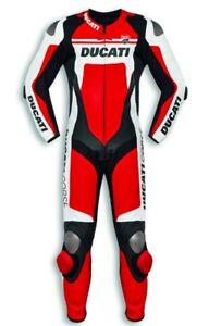 DUCATI-Dainese-Corse-C4-Lederkombi-Kombi-Leather-Suit-Einteiler-rot-NEU