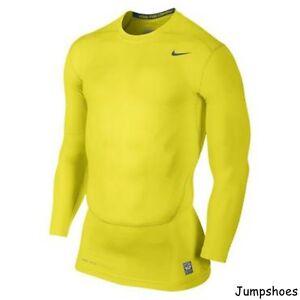 Shirt New 700 Top Nike Compression Core Pro 449794 Yellow Grey 0 2 YzzXBxP