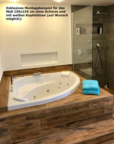 Whirlpool Badewanne Eckwanne mit 13 Massage Düsen LED Touch Display Luxus Wanne