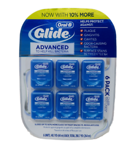 Oral-B-Glide-Advanced-Floss-6-pk-264m-Oral-B-Value-Pack-Free-Shipping