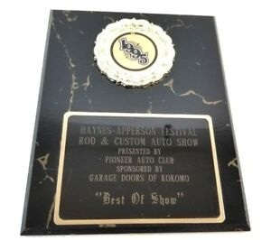 Haynes Apperson Festival 2020.Details About Haynes Apperson Festival Rod Custom Vintage Trophy Plaque Shop Garage Man Cave