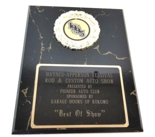 Haynes Apperson Festival Rod /& Custom Vintage Trophy Plaque Shop Garage Man Cave