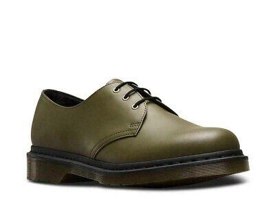 Dr Martens 1461 lisse Plain Welt DMS Olive Chaussures Cuir