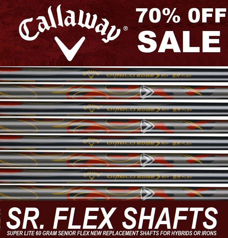 8 Nuevo Callaway Lite 60i gramo Suave Senior Sr Flex De Grafito Ejes De Hierro 4-SW .370