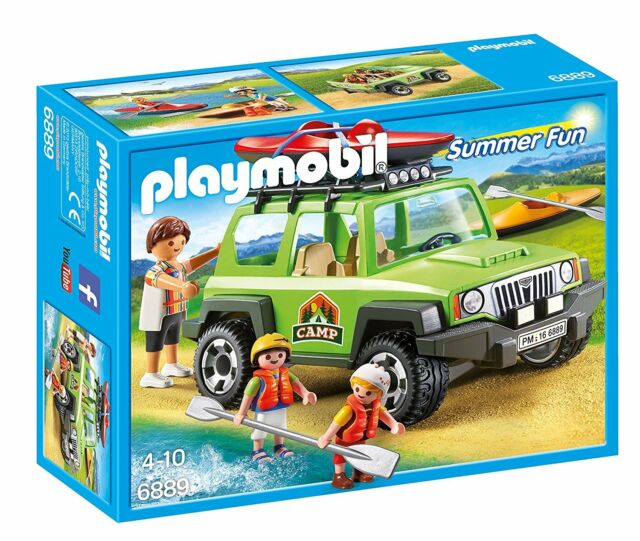 Playmobil Summer Fun 6889- Vehicle 4x4 con canoa. De 4 a 10 años