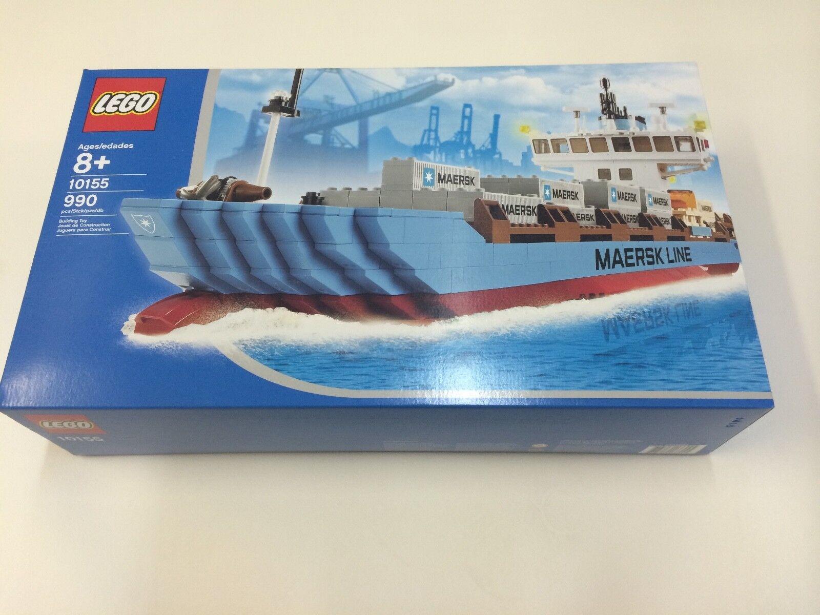 Nuovo di zecca NUOVO SIGILLATO LEGO CITY 10155 Maersk Line Container Ship fuori produzione