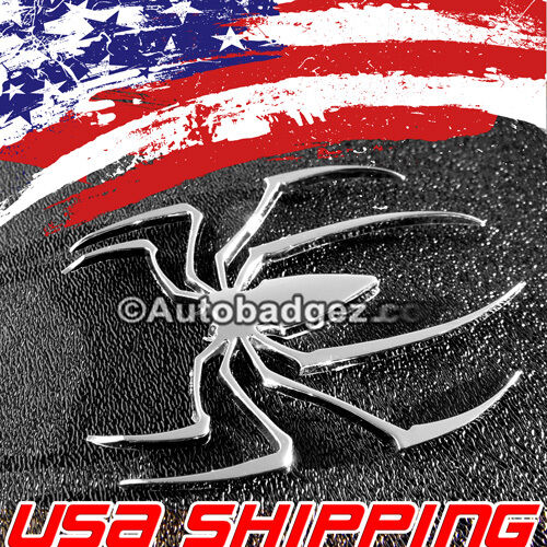 2 NEW Spiderman Spider 3D Chrome Car Auto Emblem Badge Sticker CHROME SPIDER
