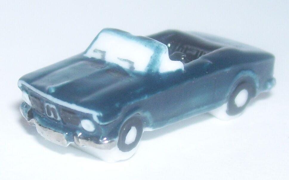 RARE BMW CABRIOLET blue green FONCE FEVE PORCELAINE 3D 1 160 NEUF