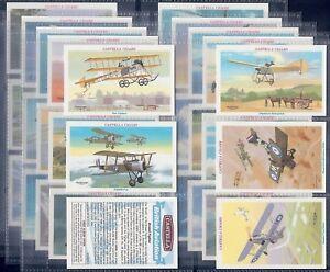 WILLS-CASTELLA-FULL-SET-BRITISH-AVIATION-X30-CARDS-EXC