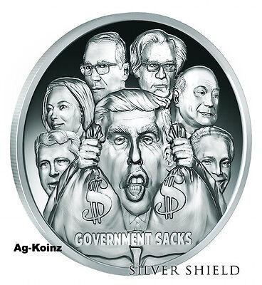 1 oz .999 fine  TRUMP FASCISM silver shield BU COA 2776 Ever Made!