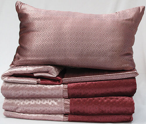 2 Eurocases 6 Pce Spot Quilted Coverlet Cushion Fit DOUBLE QUEEN 2 P//cases