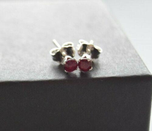 garnet stone studs Garnet stone earrings silver earrings