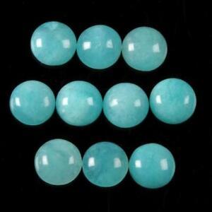 Wholesale-Lot-10X10mm-Round-Cabochon-Natural-Amazonite-Loose-Gemstone