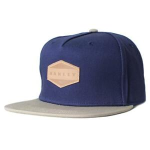 Oakley Drone Cap Navy Blue New Khaki Snapback Adjustable ...