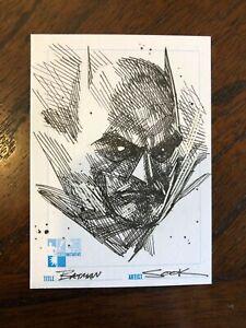 RYAN SOOK original art BATMAN on Hero Initiative sketchcard