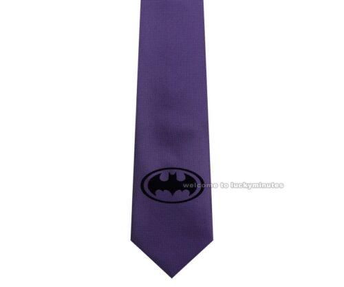"K7 DC Super Hero Batman Logo multi couleurs Skinny Slim Jacquard Tissé 2.5/"" Tie"