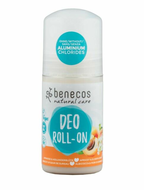 Benecos Apricot & Elderflower Roll-on Deodorant - Aluminium Free - Vegan