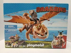 Playmobil DRAGONS #9460 Fishlegs and Meatlug 31 Pieces NIB