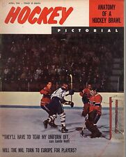 1965 (Apr.) Hockey Pictorial Magazine, Charlie Hodge, Montreal Canadiens ~ Fair
