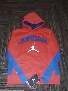 fcf58db29419 NWT Nike Air Jordan BOYS Spellout Therma-Fit Pullover Hoodie Jumpman ...