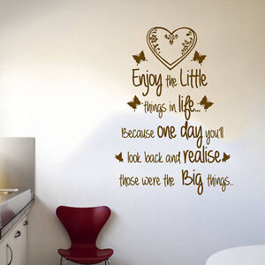 Image Is Loading Quote Enjoy Little Things In Life Wall Art