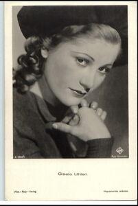 1950-60-Portraet-AK-Film-Buehne-Theater-Schauspielerin-GISELA-UHLEN-Ufa-Foto-AK