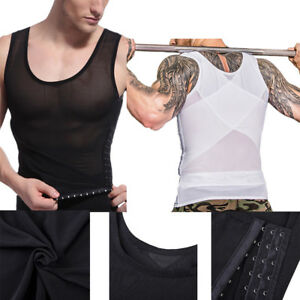 cf2cea5e9ab6c Image is loading Men-Shaper-Vest-Body-Slimming-Tummy-Underwear-Shapewear-