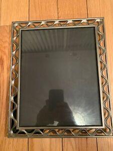 Metal-Picture-Frame-1997-Vintage-Decor-9-8x11-8-7-5x9-5