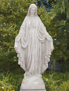 Image Is Loading 65 034 Blessed Mother Virgin Mary Concrete Cast
