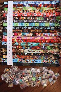 Disney-World-Pin-Trading-Lot-Lanyard-Starter-Set-With-2-Lanyards-and-50-Pins