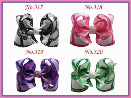 200 Good Girl Costume Boutique 4.5 Inch ABC Hair Bows clip 474 No.