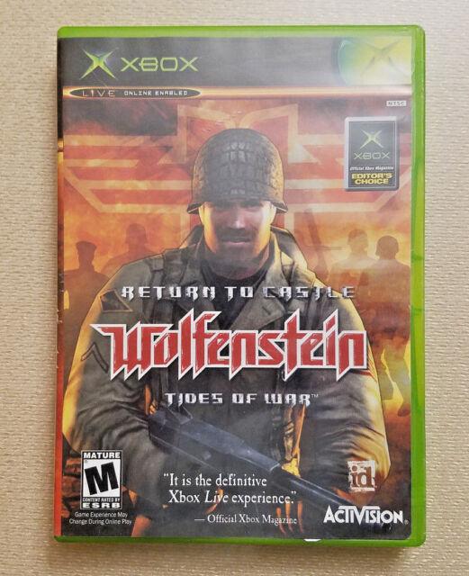 Return to Castle Wolfenstein: Tides of War (Microsoft Xbox, 2003) Fast Shipping